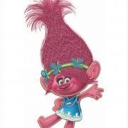 50% off - Applique Design - Princess Poppy from Trolls Movie - 7 inches tall for embroidery machine design