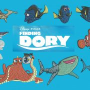 50% off - Finding Dory - sequel to the famous Finding Nemo - Machine Embroidery Designs for 4in hoop with resizeable files.