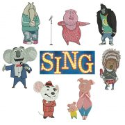 50% off - Movie Sing machine embroidery designs - 7 characters for 4x4in hoop with resizable original file.