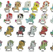 50% off - Unicorno Kawaii - Tokidoki - 25 Unicorns for 4x4in hoop - machine embroidery designs.