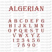 "50% off, 1"" tall Algerian Embroidery Font that you can map to your keyboard with freely downloadable software - video instructions provided."