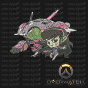 Overwatch Embroidery Designs - D.Va individual character for 4x4in hoop - resizable with freely downloadable software.