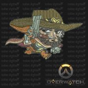 Overwatch Embroidery Designs - McCree individual character for 4x4in hoop - resizable with freely downloadable software.