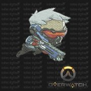 Overwatch Embroidery Designs - Soldier 76 individual character for 4x4in hoop - resizable with freely downloadable software.