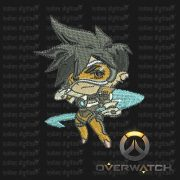 Overwatch Embroidery Designs - Tracer individual character for 4x4in hoop - resizable with freely downloadable software.